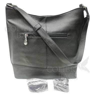 Женская кожаная сумка Amalfi. Черный