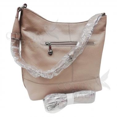Женская кожаная сумка Amalfi. Слоновая кость