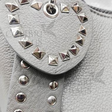 Женская кожаная сумка Amalfi. Пепельный