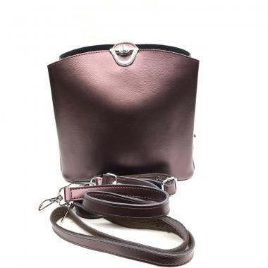 Женская кожаная сумка ARUBA без кисточки. Кофе жемчужный.