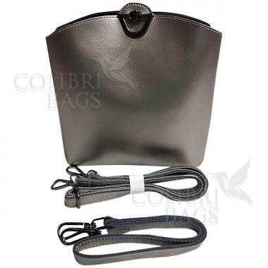 Женская сумка ARUBA без кисточки. Серебро.