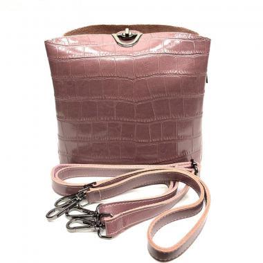 Женская кожаная сумка ARUBA PITON.  Лиловый