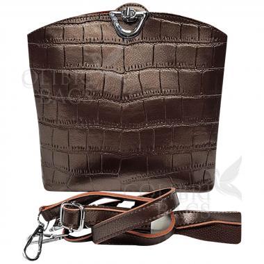 Женская кожаная сумка Aruba Piton. Шоколад