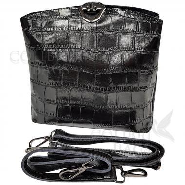 Женская кожаная сумка Aruba Piton. Черный
