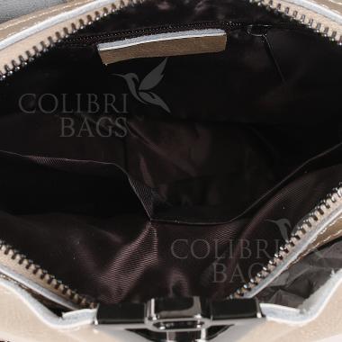 Женская кожаная сумка ARUBA с цепочкой. Ежевичный.