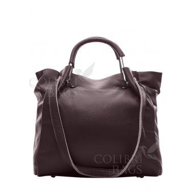 Женская кожаная сумка BENITA. Ежевичный