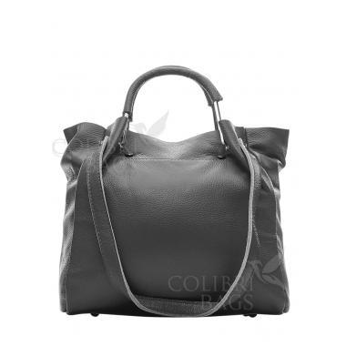 Женская кожаная сумка BENITA. Пепельный