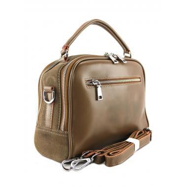 Женская кожаная сумка BIANKA ЗАМША. Песочный