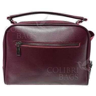 Женская кожаная сумка Bianka. Ежевичный.