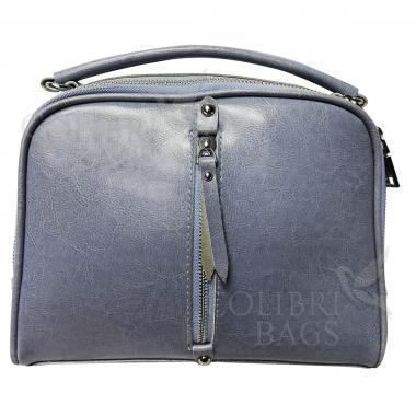 Женская кожаная сумка Bianka. Голубой.