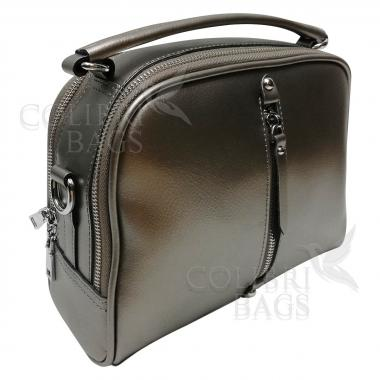 Женская кожаная сумка Bianka. Бронза.