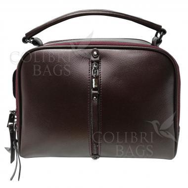 Женская кожаная сумка Bianka. Кофе жемчужный.