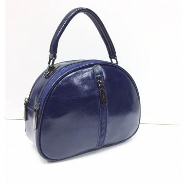 Женская кожаная сумка BIANKA MINI LIGHT. Темно-синий.