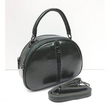 Женская кожаная сумка BIANKA MINI LIGHT. Темно-зеленый.