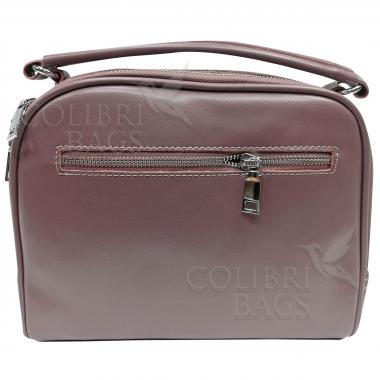 Женская кожаная сумка BIANKA ЗАМША.  ПУДРОВЫЙ.
