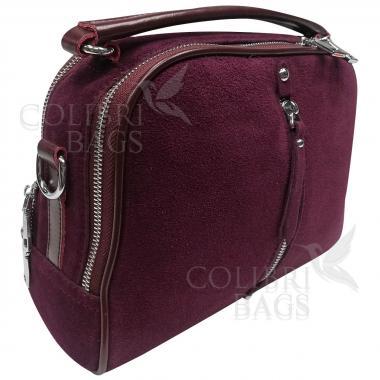 Женская кожаная сумка BIANKA ЗАМША. ЕЖЕВИЧНЫЙ.