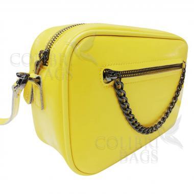 Женская кожаная сумка Bogema. Желтый