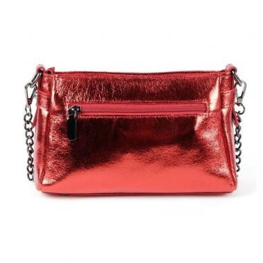 Женская кожаная сумка-клатч BONIA. КРАСНЫЙ.