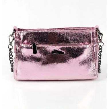 Женская кожаная сумка-клатч BONIA. РОЗОВЫЙ.
