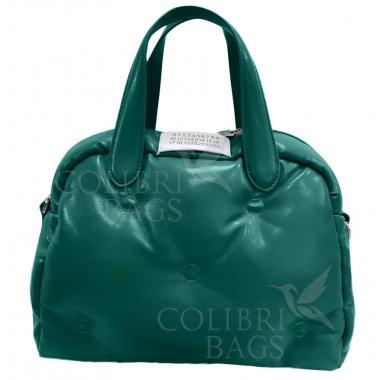 Женская стеганая сумка BOOLY ONE. Темно-зеленый