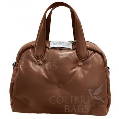 Женская стеганая сумка BOOLY ONE. Карамельный