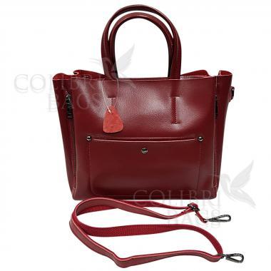 Женская кожаная сумкаBora. Гранат