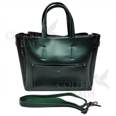 Женская кожаная сумка Bora. Изумруд