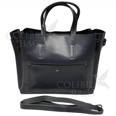 Женская кожаная сумка Bora. Пепельный