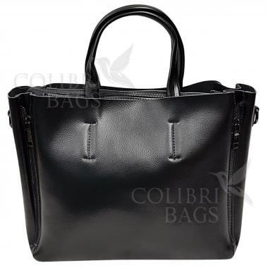 Женская кожаная сумка Bora. Черный