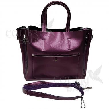 Женская кожаная сумка Bora. Аметист