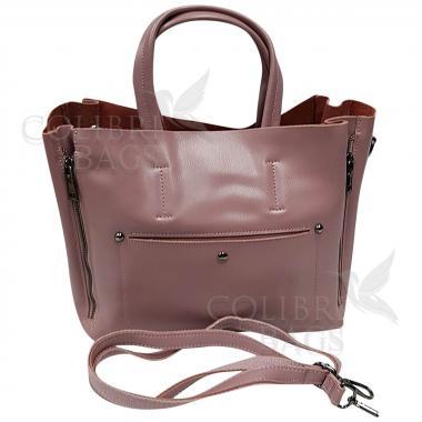 Женская кожаная сумка Bora. Лиловый