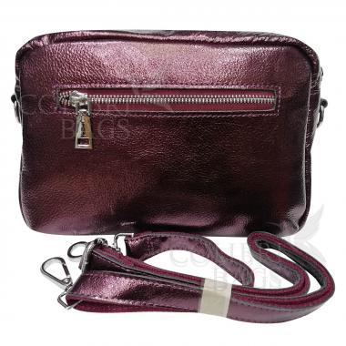 Женская кожаная сумка BROODY. Кофе жемчужный