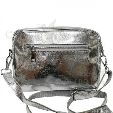 Женская кожаная сумка BROODY. Серебро