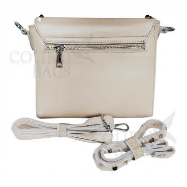 Женская кожаная сумка Castella. Слоновая кость