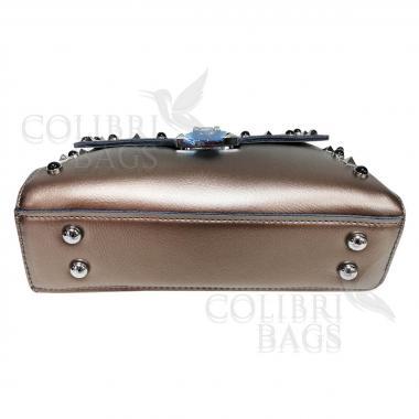 Женская кожаная сумка Castella. Бронза