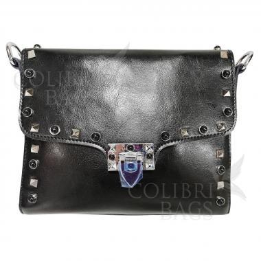 Женская кожаная сумка Castella. Черный