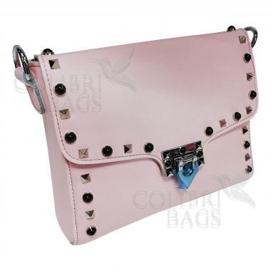 Женская кожаная сумка Castella. Розовый