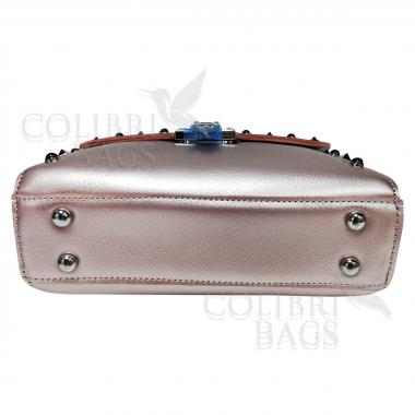 Женская кожаная сумка Castella. Жемчуг
