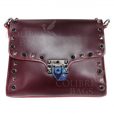 Женская кожаная сумка Castella. Гранат