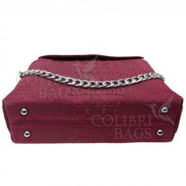Женская кожаная сумка CAYMA MIDI. Гранат.