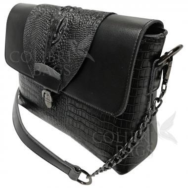 Женская кожаная сумка CAYMANIKA NOVA. Черный.
