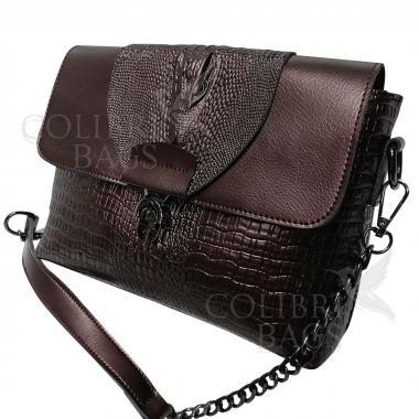Женская кожаная сумка CAYMANIKA NOVA. Кофе жемчужный.