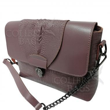 Женская кожаная сумка CAYMANIKA NOVA. Лиловый.