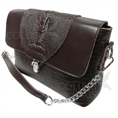 Женская кожаная сумка CAYMANIKA NOVA. Шоколад.