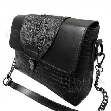 Женская кожаная сумка CAYMANIKA NOVA. Стальной.