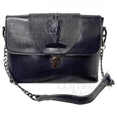 Женская кожаная сумка CAYMANIKA NOVA. Темно-синий.