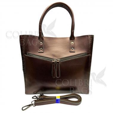 Женская кожаная сумка CELEBRITY PITON. Бронза.