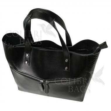Женская кожаная сумка CELEBRITY PITON. Черный.