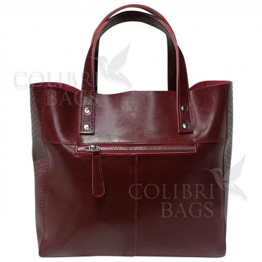 Женская кожаная сумка CELEBRITY PITON. Гранат.