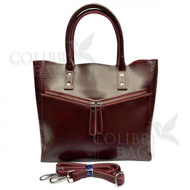 Женская кожаная сумка CELEBRITY. Ежевичный.